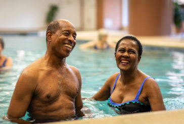 Water Aerobics Couple Wellness